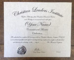 Ordination Certificate (Without Package)
