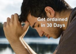 get ordained in 30 days