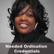 Needed Ordination Credentials