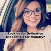 Ordination Credentials for Ministry